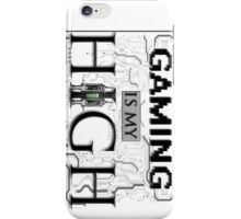 Gaming is my HIGH - Black text Transparent iPhone Case/Skin