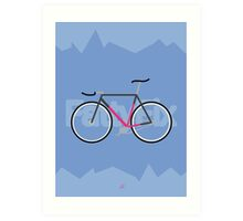 Fattyfix - fixie poster by JeppeRIngsted Art Print