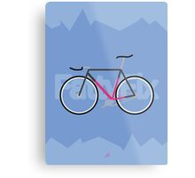 Fattyfix - fixie poster by JeppeRIngsted Metal Print