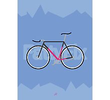 Fattyfix - fixie poster by JeppeRIngsted Photographic Print