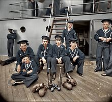The Athletes of the U.S.S Oregon, Circa 1897 by ryanurban