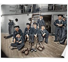 The Athletes of the U.S.S Oregon, Circa 1897 Poster