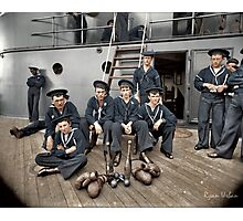 The Athletes of the U.S.S Oregon, Circa 1897 Photographic Print