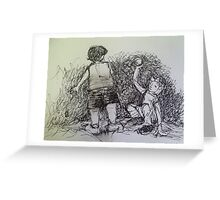 How kids stand and sit      2darts,  Greeting Card