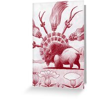 Witchcraft Buffalo Swept away... Greeting Card