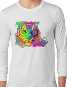 PSYCHEDELIC TIGER Long Sleeve T-Shirt