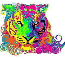PSYCHEDELIC TIGER Photographic Print