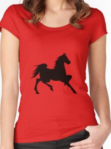 Black Horse  Women's Fitted Scoop T-Shirt