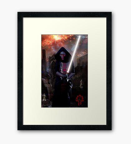 Darth Revan in Jedi Temple Framed Print