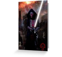 Darth Revan in Jedi Temple Greeting Card