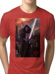 Darth Revan in Jedi Temple Tri-blend T-Shirt