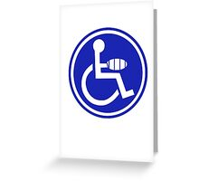 DISABLED JOKE PARKING SIGN HAND Greeting Card
