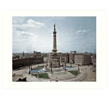 Soldiers' and Sailors' Monument, Indianapolis, Indiana, circa 1907. Art Print