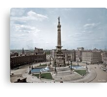 Soldiers' and Sailors' Monument, Indianapolis, Indiana, circa 1907. Metal Print