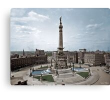 Soldiers' and Sailors' Monument, Indianapolis, Indiana, circa 1907. Canvas Print