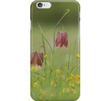 Fritillaries in a sea of buttercups iPhone Case/Skin