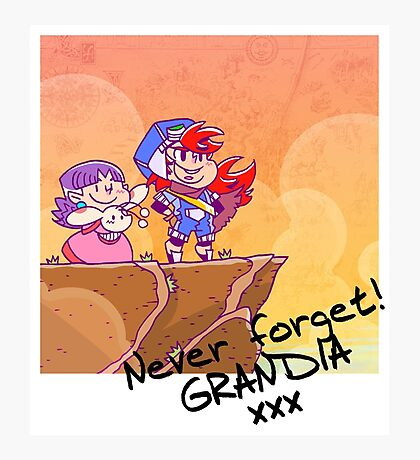 Never forget Grandia! Photographic Print