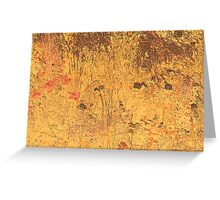 Gold View On Wildflowers Greeting Card