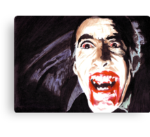 The Horror of  Dracula Canvas Print