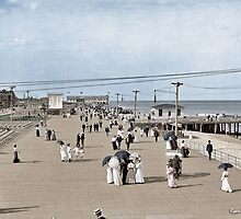 Boardwalk at Asbury Park on The Jersey Shore circa 1905.  by ryanurban