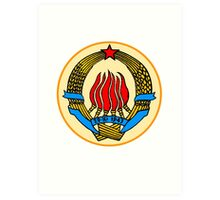 COAT OF ARMS  YUGOSLAVIA Art Print