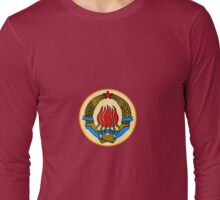 COAT OF ARMS  YUGOSLAVIA Long Sleeve T-Shirt