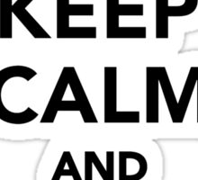 Keep calm and practice Aikido Sticker