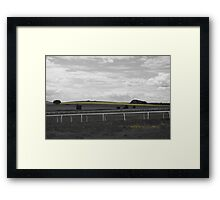 Yellow in a monotone view Framed Print