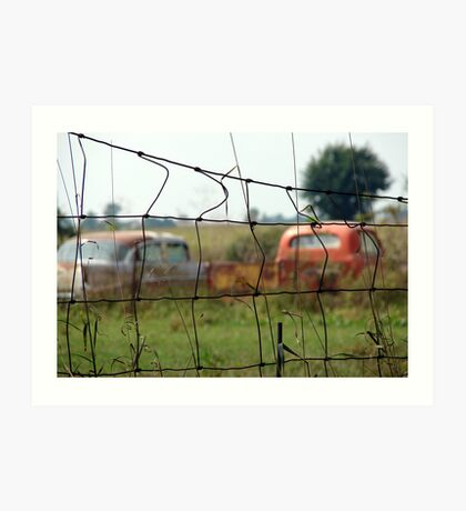Cars And Trucks Rusting Away Art Print
