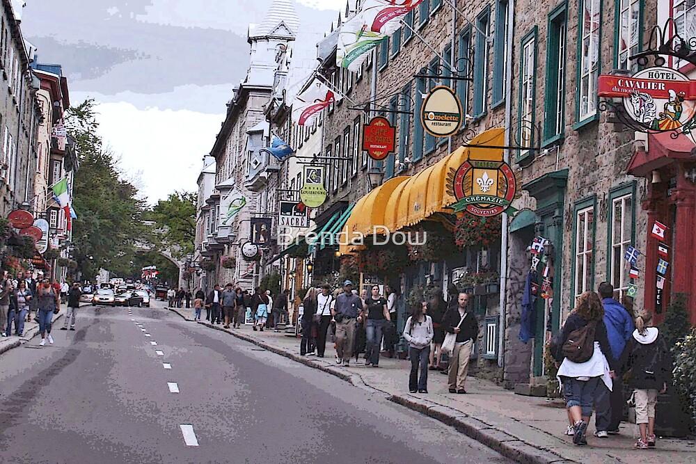 Quebec City, rue de Buade by Brenda Dow