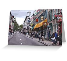 Quebec City, rue de Buade Greeting Card