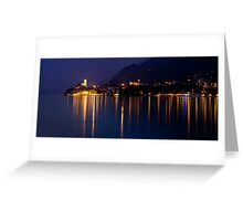 Malcesine Night Reflections Greeting Card