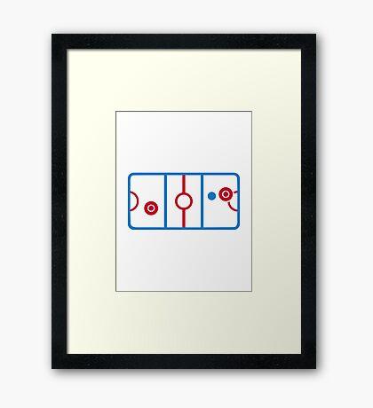 Air hockey Framed Print