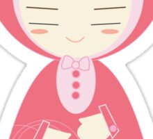 pink doll Sticker