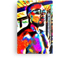 Vibrant Sun Glass Man Metal Print