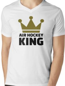 Air hockey King Mens V-Neck T-Shirt