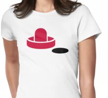 Air hockey Womens Fitted T-Shirt