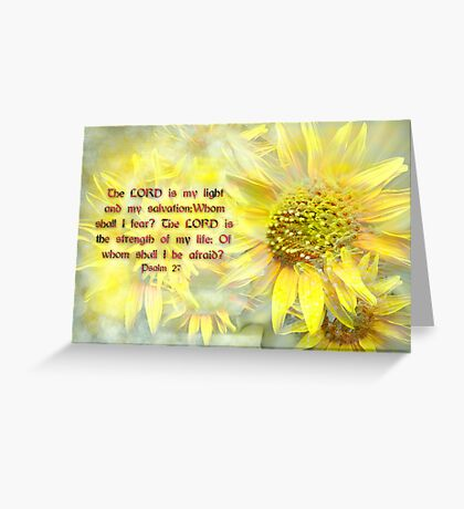 Lord is my light Greeting Card