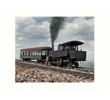 Cog Train Railway, Pike's Peak, Colorado circa 1900 Art Print