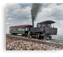 Cog Train Railway, Pike's Peak, Colorado circa 1900 Metal Print