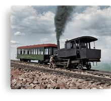 Cog Train Railway, Pike's Peak, Colorado circa 1900 Canvas Print