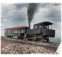 Cog Train Railway, Pike's Peak, Colorado circa 1900 Poster