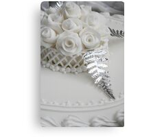 Wedding Cake detail Canvas Print