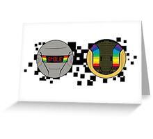 Daft Punk Emote Smile Greeting Card