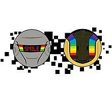 Daft Punk Emote Smile Photographic Print