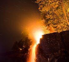 Waterfalls on Fire by Michael Treloar