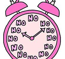 No No No Clock by idkbutpuppies