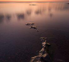 Lake Superior, Sunrise. by Michael Treloar