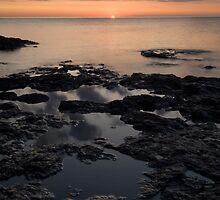 Lake Superior, Minnesota, Sunrise. by Michael Treloar
