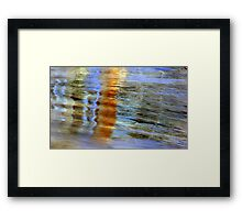 Painting the water Framed Print